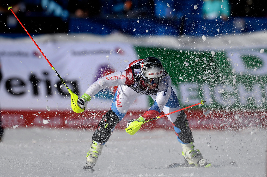 . BEAVER CREEK, CO - FEBRUARY 08: Jared Goldberg of the USA competes during the men\'s alpine combined final. FIS Alpine World Ski Championships 2015 on Sunday, February 8, 2015. (Photo by AAron Ontiveroz/The Denver Post)