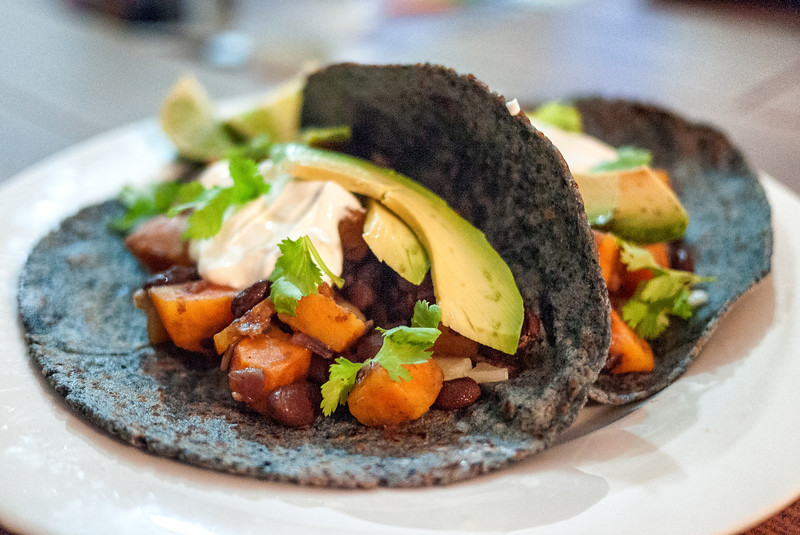 Sweet potato and black bean taco recipe