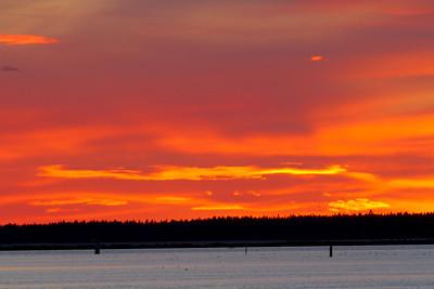 Sunset over Vaasa