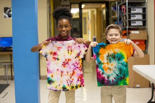 Second Grade Tie-Dye Art