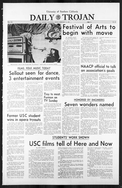 Daily Trojan, Vol. 59, No. 77, February 23, 1968