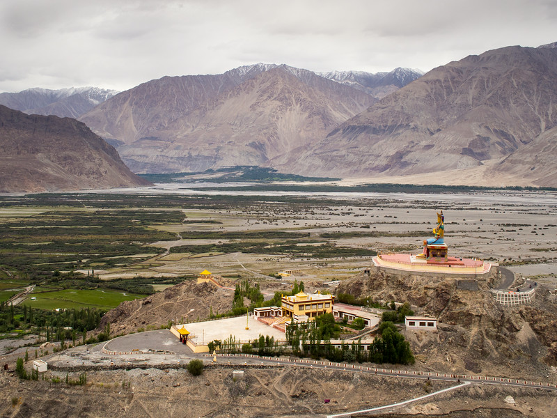View from Diskit Monastery, Nubra Valley