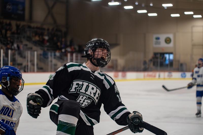 Holy Family Boys Varsity Hockey vs. Academy of Holy Angels, 12/21/19: Jacob McPartland '21 (12)