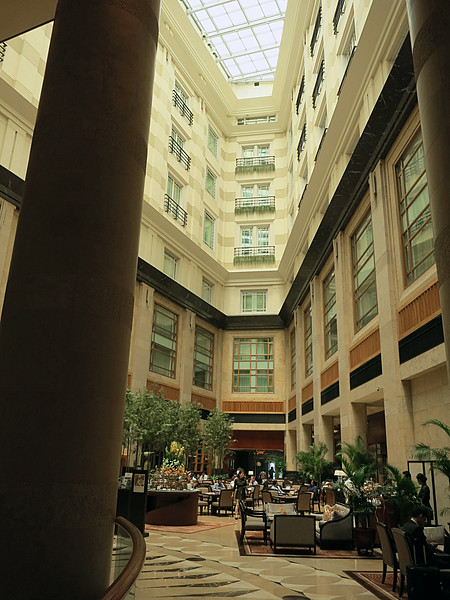 An interior court of the former General Post Office, now the Fullerton Hotel.