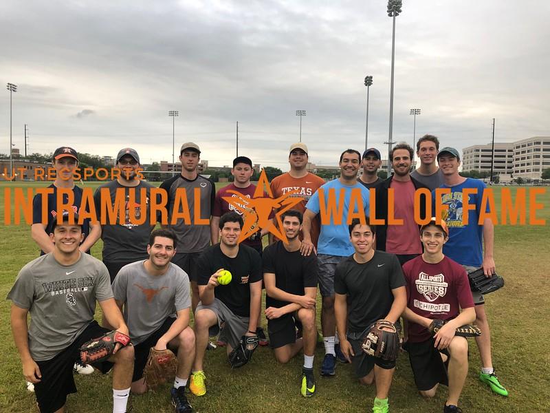 Spring 2018 Softball Men's B Champion Sammy Seniors