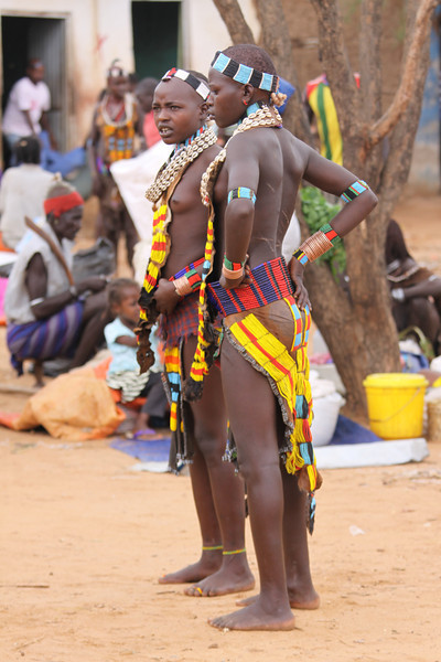 Hamer tribe at market in Turmi