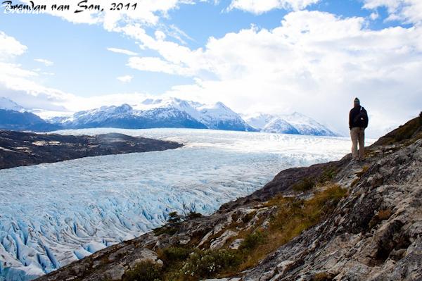career break travel adventures in Patagonia, Torres Del Paine Park, Glacier Grey, Chile