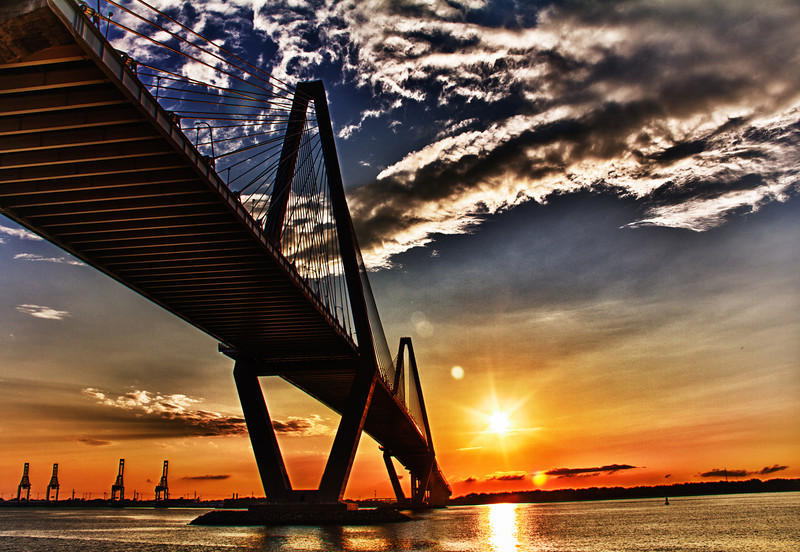 This shot of the Ravenel Bridge was taken at the MT. Pleasant Pier in August of 2011. We had spent an entire day at the USS Yorktown and took the kids over to the park there. It is truly a wonderful place and if you have never been there I would highly suggest that you visit. The entire is facility is just splendid.