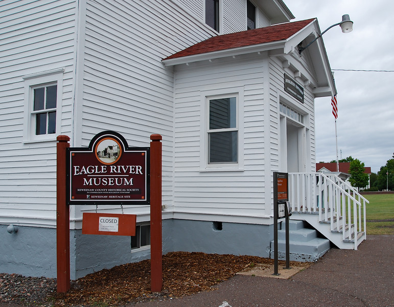 The Houghton Township Hall is also a museum