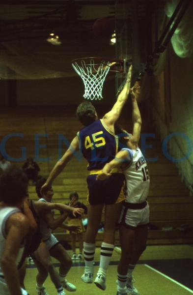 Men's Basketball Game vs. Elmira Fall 1983