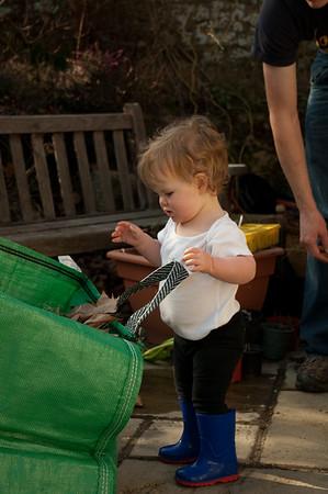 20120310 - Franny Gardening