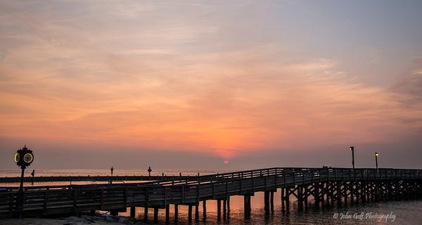 Clock At Sunrise<br /> North Beach, Maryland