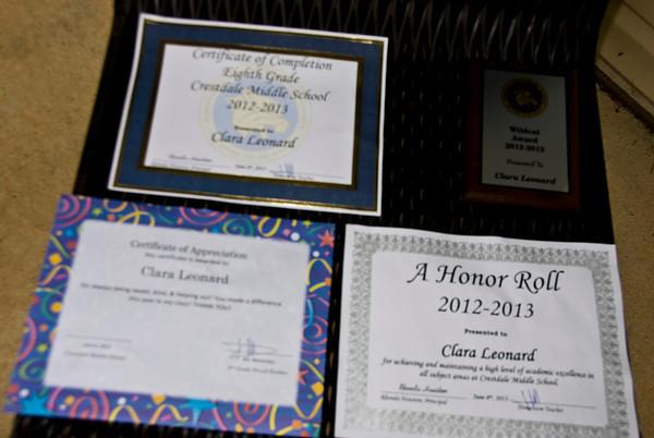 Clara's8th grade graduation