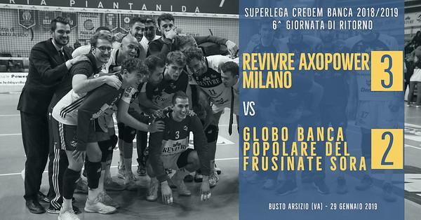 6^ Rit: Revivre Axopower Milano - Globo Banca Popolare del Frusinate Sora
