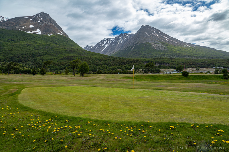 Ushuaia Golf Club, Tierra del Fuego, Argentina. Southern-most golf course in the world.