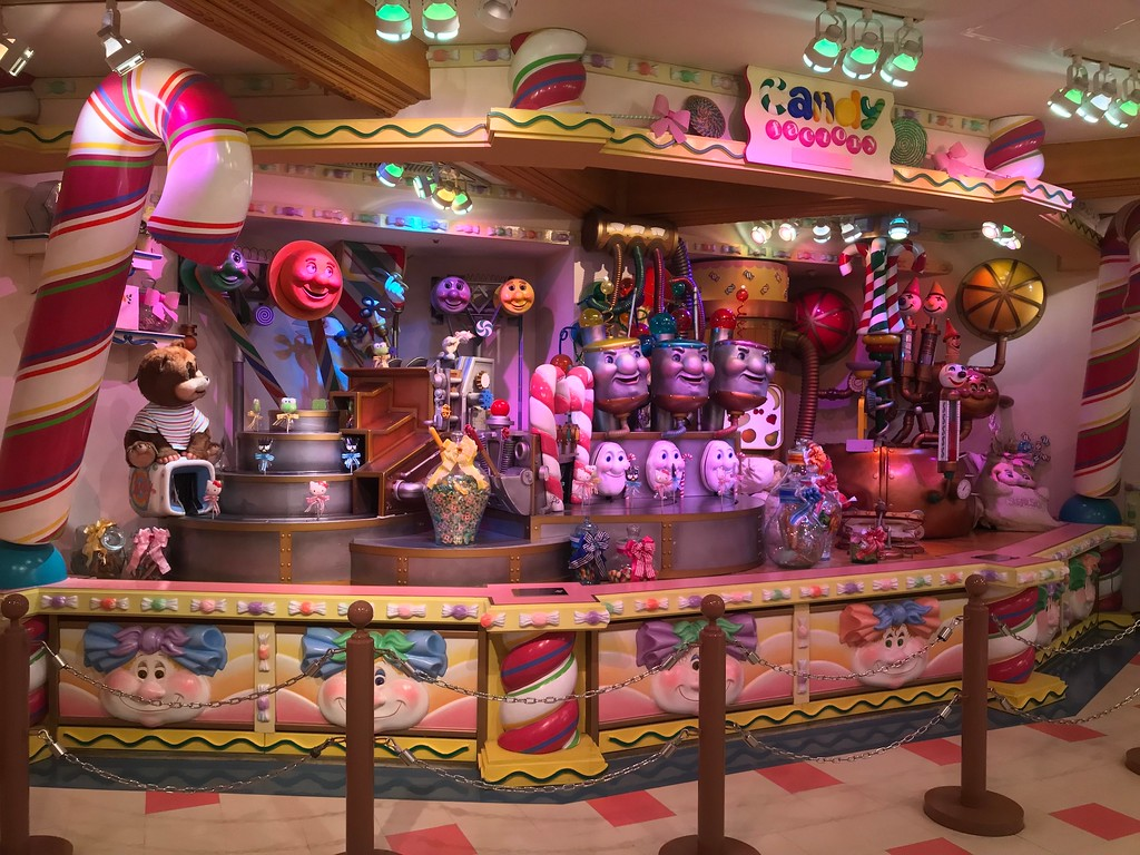 The Candy Factory display.