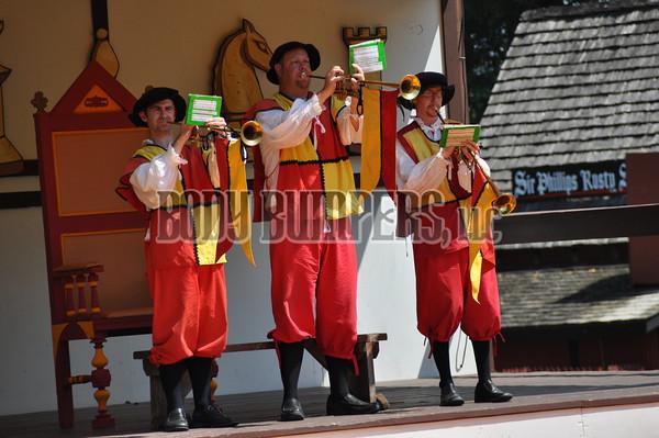 """""""The Queen's Trumpet Players"""" Pennsylvania Renaissance Faire - August 11, 2012 - Nikon D90 - Mark Teicher"""
