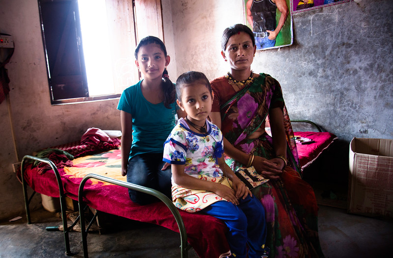 Some of the women who hails from the interior areas, live here in rented accommodation, to ensure that they can afford to send their children to school. I met Dhana, a mother of two. Her elder daughter Kareena was extremely shy and left the room as soon as she saw me. Later, I found out she was born differently abled. She always hid her hand in a shawl or behind the back, as revealed by her mother. Kareena was going through a crisis of confidence and avoided exposing herself to others. Her mother worried about her disability and all the more because she was a girl. I told Kareena how beautiful she was and I wished soon she learnt to overcome her misgivings about her look and develop confidence in herself and her ability to work like others and face the world boldly.