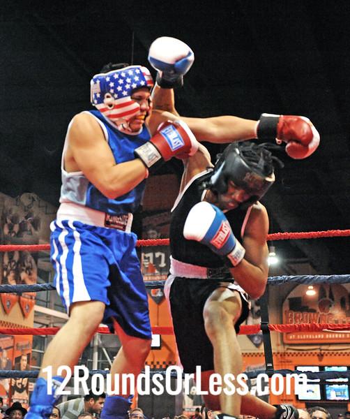 Nick Pinero(Freddie's Boxing) vs Khalir Lanier(Rock Hard Cash) 165 pound-Sub-Novice Division Bout # 12