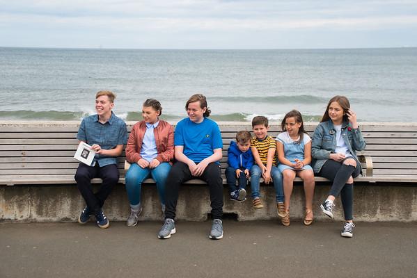 Davison Family at the beach