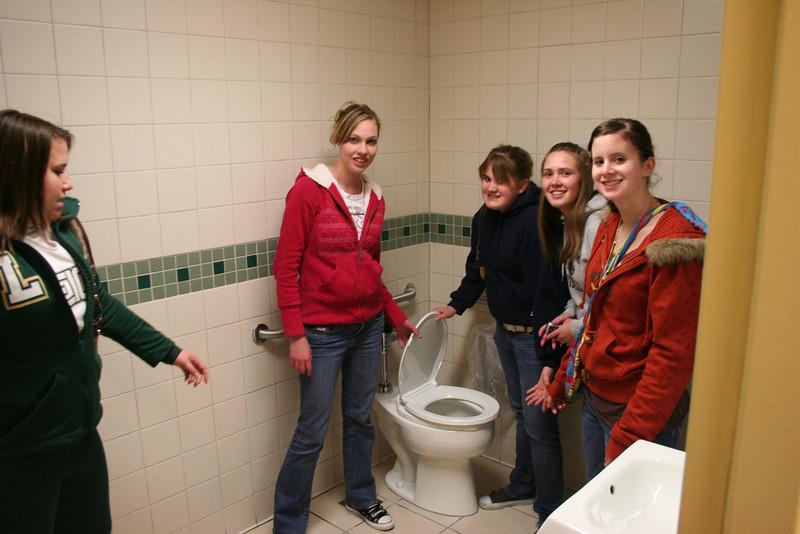 High School Scavenger Hunt Feb 08 Bathroom