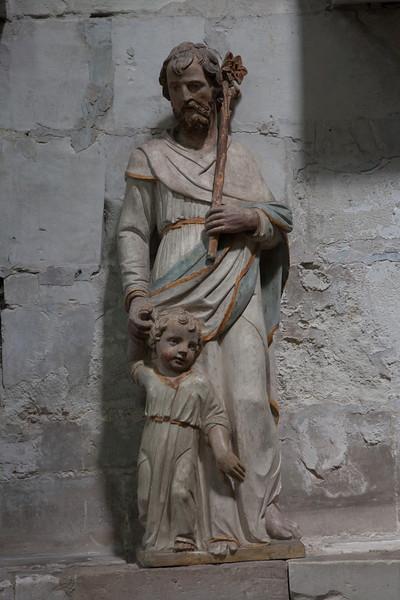 Troyes - Sainte-Madeleine Church - Joseph & Christ