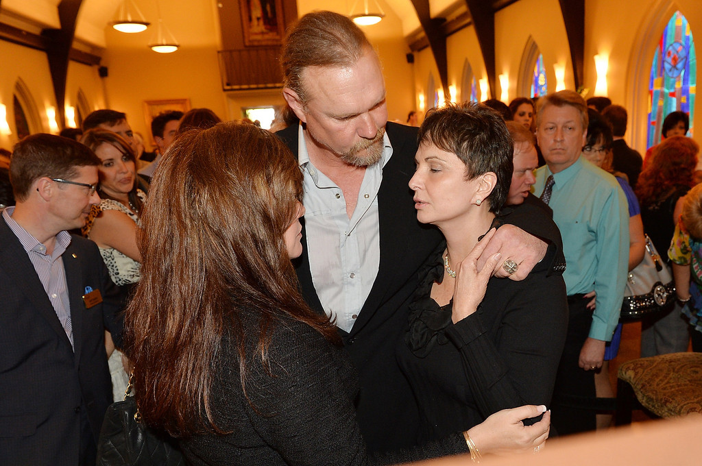 . (L-R) Rhonda Forlaw, country musician Trace Adkins, and Nancy Jones attend the private visitation for George Jones on May 1, 2013 in Nashville, Tennessee.   (Photo by Rick Diamond/Getty Images for Nancy Jones)