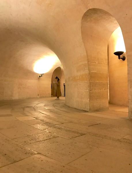 Hallways of the crypt inside the Pantheon - Paris