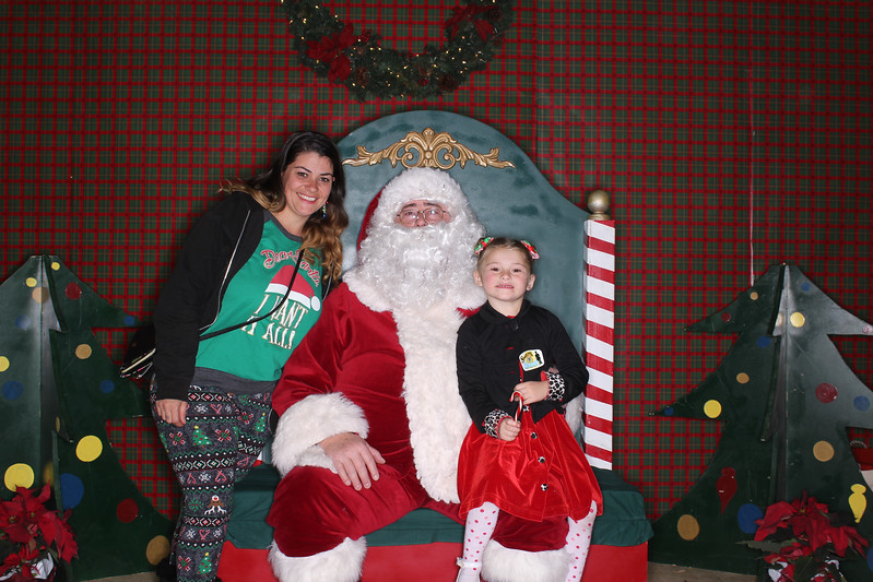Photo Booth Photos with Santa