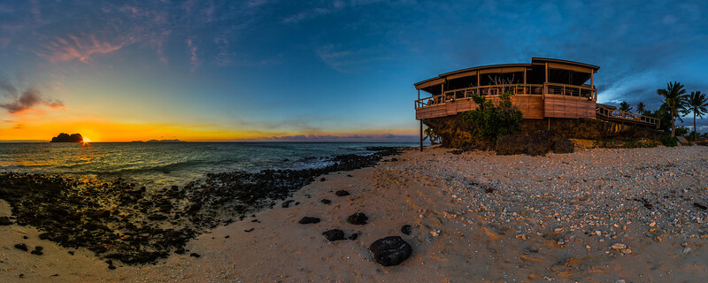 Sunset at The Rocks Paradise - Vomo Island Resort - Fiji Islands