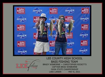 LEE COUNTY FISHING TEAM 2021