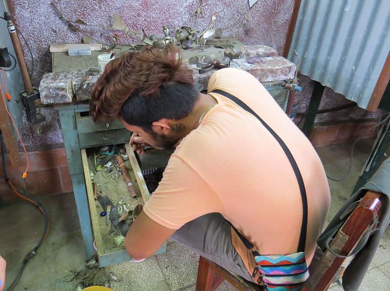 Silversmith craftsman's work station