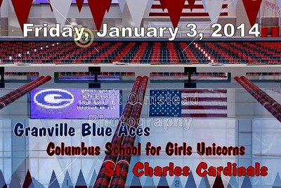 2014 Granville Hosts Columbus School for Girls and St. Charles (01-03-14)