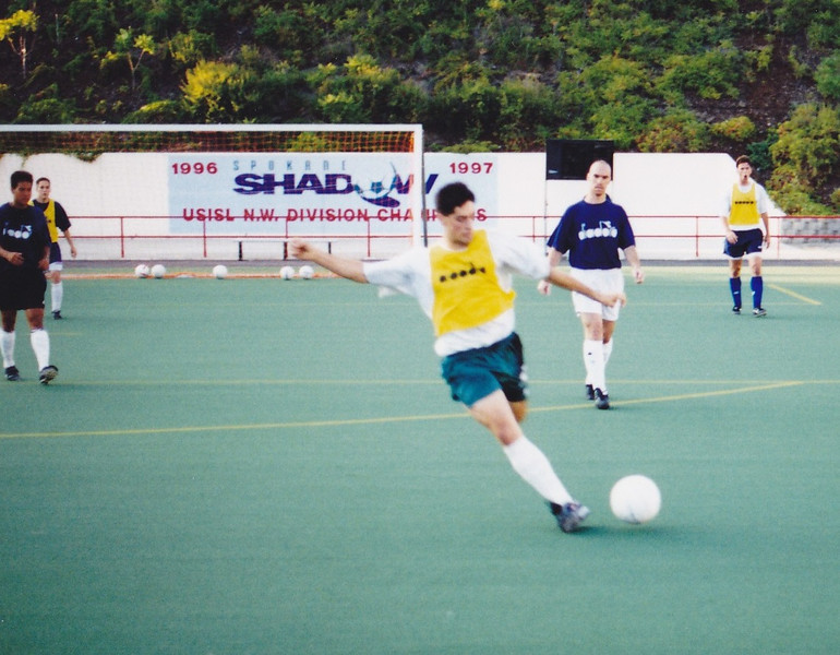 The man who I think helped make Brian Ching the star he is. Chris LaRochelle still is the best service provider I ever saw for the Shadow. His corners, free kicks and crosses were perfect and with Ching rising sometimes a foot above the opposition, he became a marksman with his head. Stuart Saunders is behind LaRochelle.