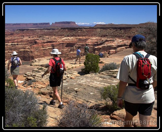 The hike from the camp down to the canyon floor started out easily enough.