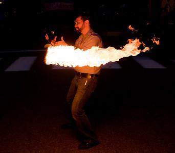 Fire performance at pumkin fest