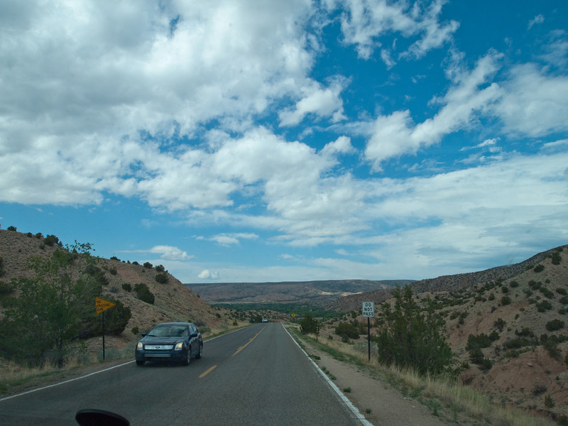 On the road back to Taos - Blue Sky!