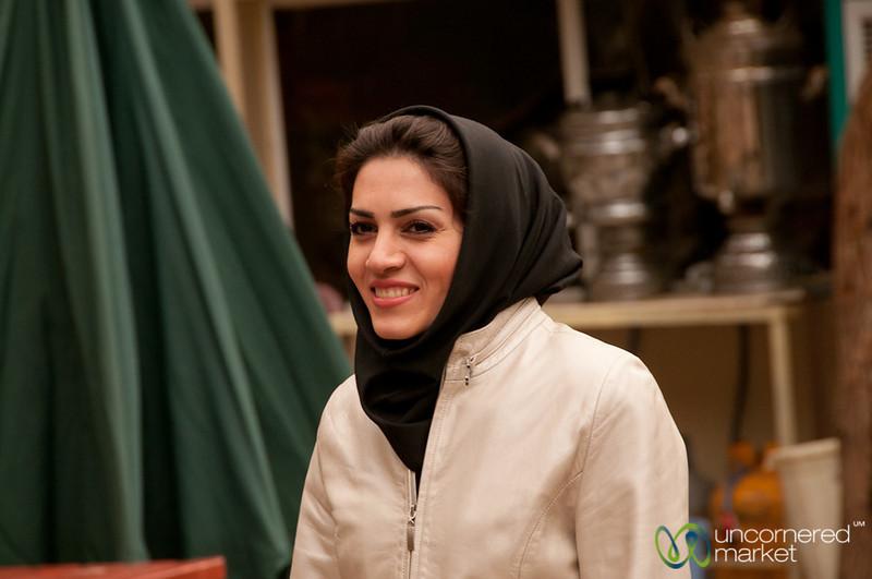 Iranian Woman Visiting St. Stephanos Church - Jolfa, Iran
