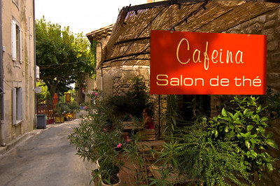 Europe, France, Provence, Gigondas, tea house