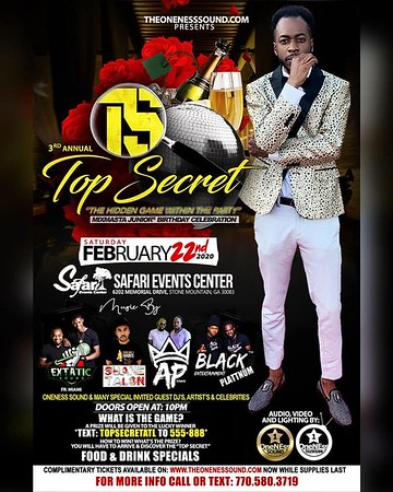 MIX MASTER JUNIOR 3rd ANNUAL TOP SECRET BIRTHDAY BASH 2020