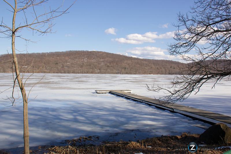 View of a dock at Rockland Lake