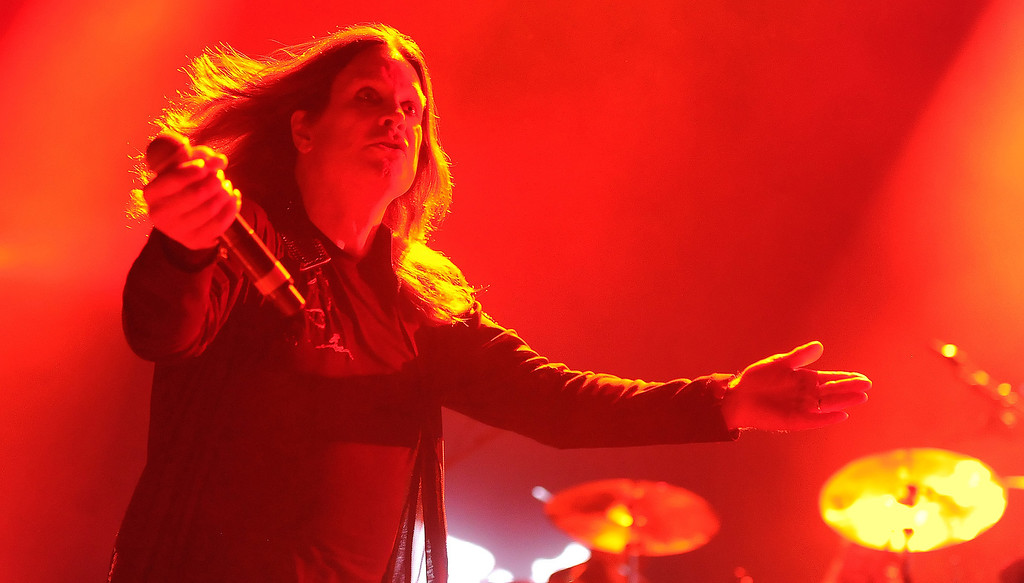 . Ozzy Osbourne of Black Sabbath performs at the Verizon Wireless Amphitheatre on Wednesday, Aug. 28, 2013 in Irvine, Calif.   (Keith Birmingham/Pasadena Star-News)