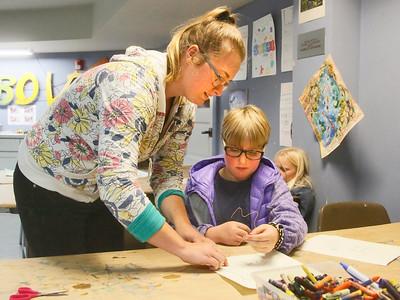 Photos:  After-school art class at Morris Graves Museum