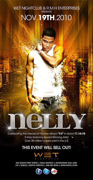 11/19 [NELLY LIVE@WET]