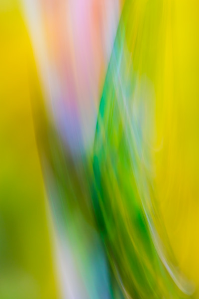 Calm abstract greens and yellows smoothed out against blue