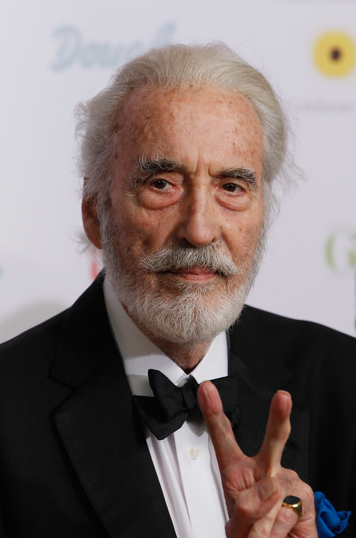 . Actor Christopher Lee attends the Dreamball 2010 charity gala at the Grand Hyatt hotel on September 23, 2010 in Berlin, Germany.  (Photo by Sean Gallup/Getty Images)