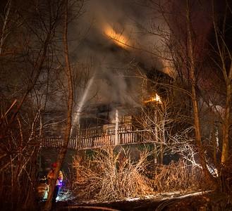 Vacant House Fire - 112 Cherry St, Waterbury, CT - 12/25/16