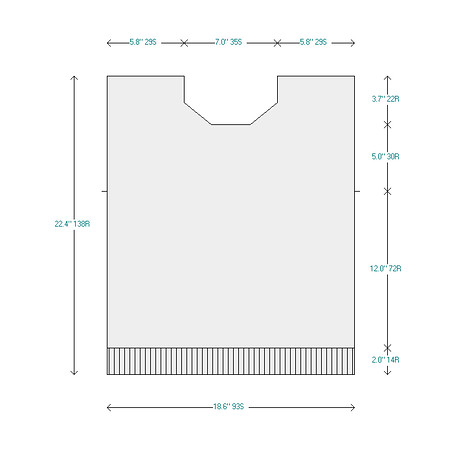 Initial Sweater Front Diagram