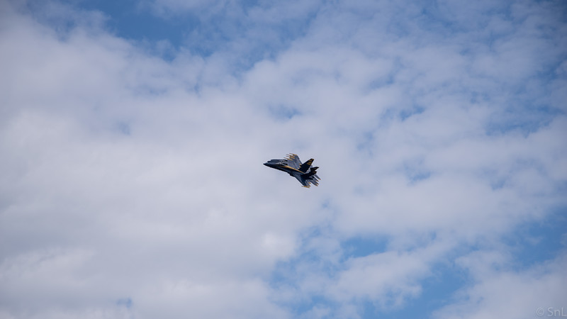 Airshow at Brunswick Executive Airport - we pulled into a random subdivision that happened to be over the staging/flightpath for the show