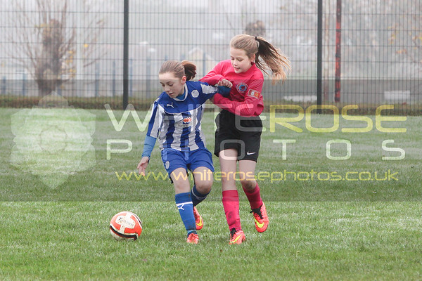 Under 11's Girls v Sheffield Wednesday girls 15 - 11 - 14